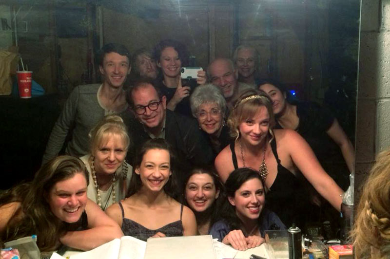 Katherine James and Alan Blumenfeld backstage with the cast of Mine Is Yours ROMEO AND JULIET.