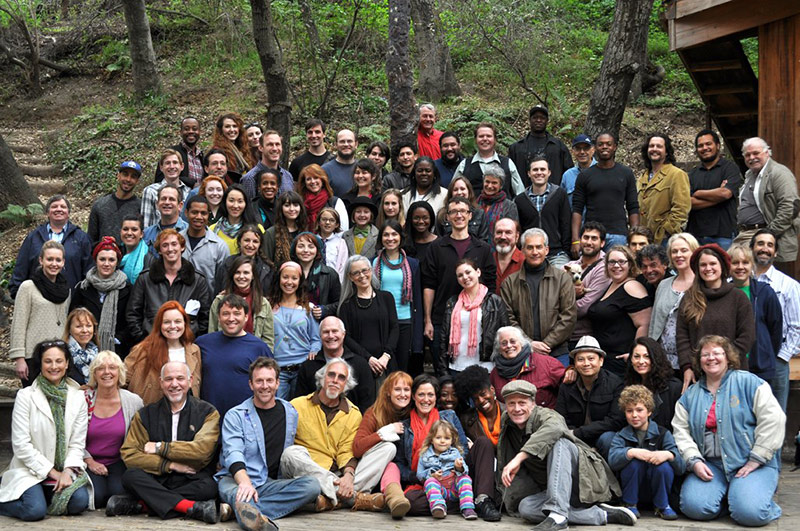 Alan and Katherine, in the far left front row, with the rest of the Theatricum Botanicum 2013 company for opening day!