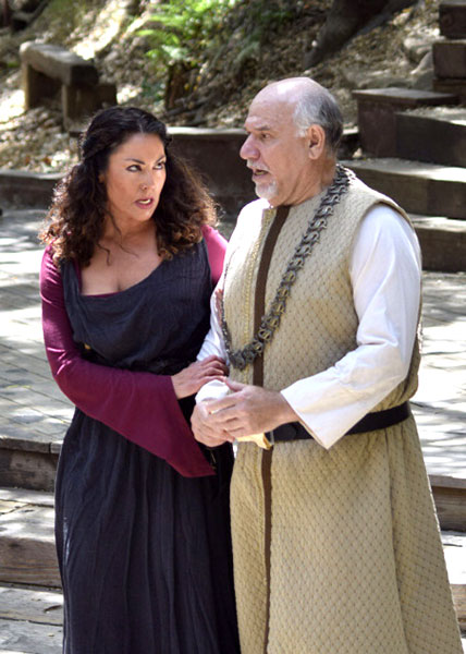 Alan Blumenfeld as Gloucester with Abby Craden as Igraine in Theatricum Botanicum's Lear.