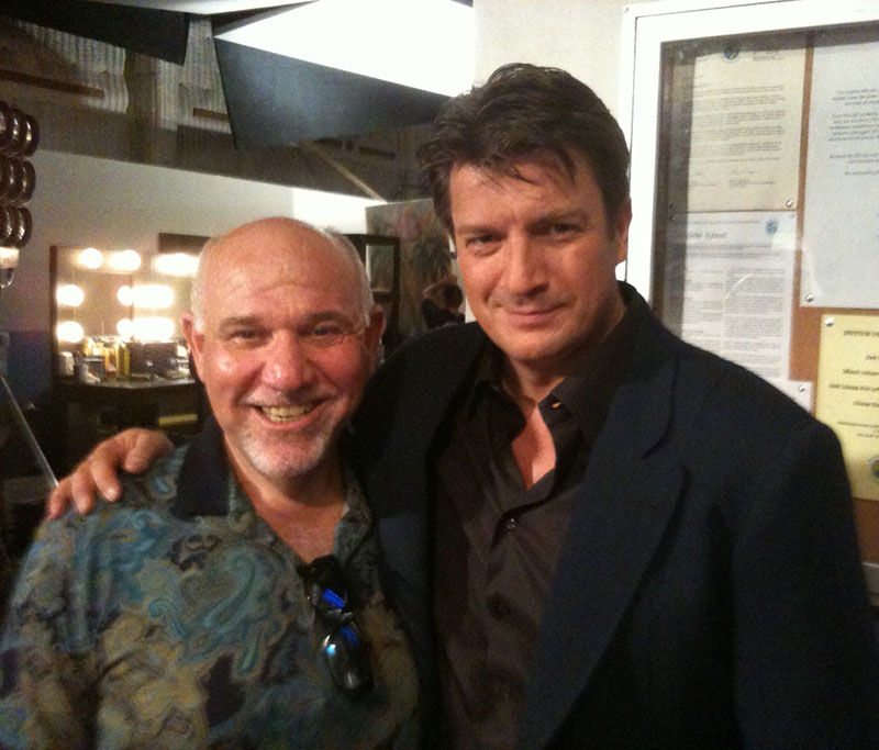 (August 2013) Working on CASTLE with Nathan Fillion, terrific guy. Wonderful actor, great show.