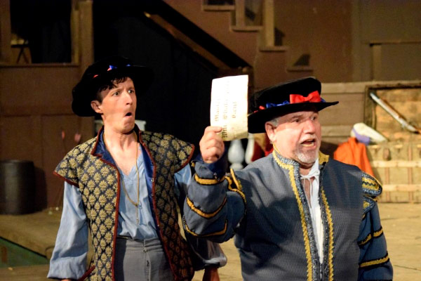 Another image of Alan Blumenfeld in Theatricum Botanicum's Equivocation.
